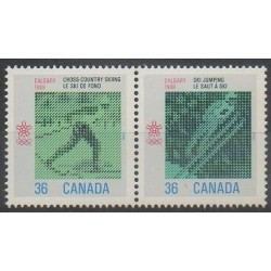 Canada - 1987 - Nb 1027/1028 - Winter Olympics