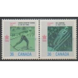 Canada - 1987 - No 1027/1028 - Jeux olympiques d'hiver