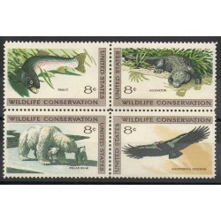 États-Unis - 1971- No 927/930 - Animaux