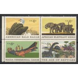 États-Unis - 1970- No 890/893 - Animaux