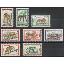 Congo (République du) - 1972- No 318/325 - Animaux