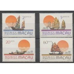 Macao - 1984 - Nb 501/504 - Boats - Philately