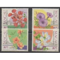 Macao - 1991 - No 644/647 - Fleurs