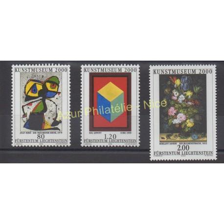 Liechtenstein - 2000 - No 1186/1188 - Peinture