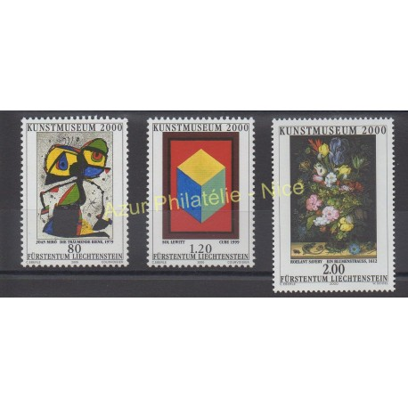 Liechtenstein - 2000 - Nb 1186/1188 - Painting