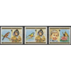 Yemen - Arab Republic - 1980 - Nb 325/327ND - Childhood - Birds - Insects