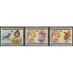 Yémen - République arabe - 1980 - No PA171/PA173ND - Enfance - Insectes - Oiseaux