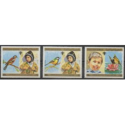 Yemen - Arab Republic - 1980 - Nb 325/327 - Childhood - Birds - Insects