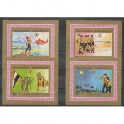 Yémen - République arabe - 1980 - BI des no 328/331 - Scoutisme