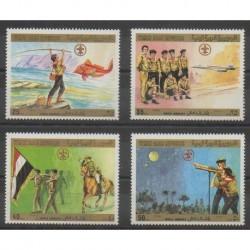Yémen - République arabe - 1980 - No 328/331 - Scoutisme