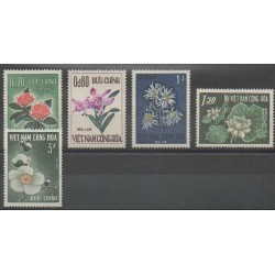 Vietnam du sud - 1965 - No 264/268 - Fleurs