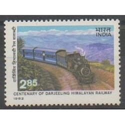 India - 1982 - Nb 745 - Trains
