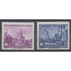 Allemagne orientale (RDA) - 1956 - No 239/240 - Exposition