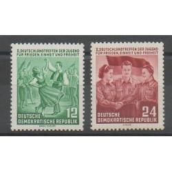 Allemagne orientale (RDA) - 1954 - No 166/167