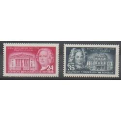 Allemagne orientale (RDA) - 1953 - No 115/116 - Célébrités