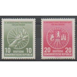 Allemagne orientale (RDA) - 1956 - No 246/247 - Sports divers