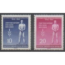 Allemagne orientale (RDA) - 1955 - No 195/196 - Seconde Guerre Mondiale