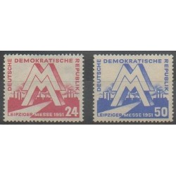 Allemagne orientale (RDA) - 1951 - No 34/35 - Exposition