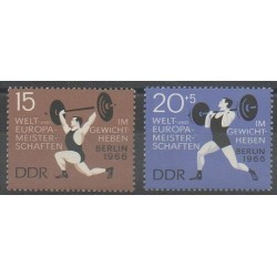 Allemagne orientale (RDA) - 1966 - No 905/906 - Sports divers