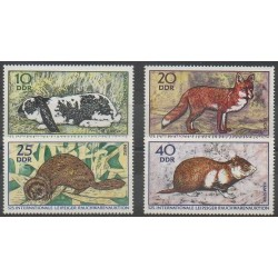 East Germany (GDR) - 1970 - Nb 1234/1237 - Mamals