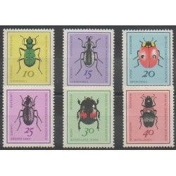 Allemagne orientale (RDA) - 1968 - No 1107/1112 - Insectes