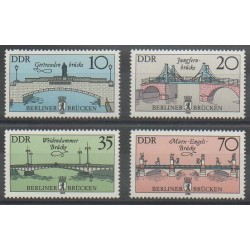East Germany (GDR) - 1985 - Nb 2595/2598 - Bridges