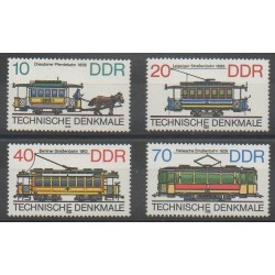 Allemagne orientale (RDA) - 1986 - No 2637/2640 - Transports