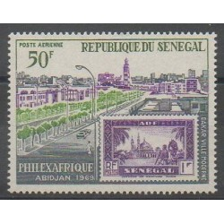 Senegal - 1969 - Nb PA73 - Stamps on stamps - Philately