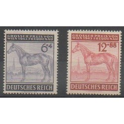 Germany - 1943 - Nb 777/778 - Horses