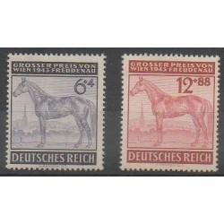Allemagne - 1943 - No 777/778 - Chevaux