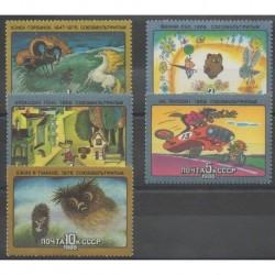 Russia - 1988 - Nb 5483/5487 - Cartoons - Comics