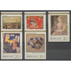 Russia - 1989 - Nb 5678/5682 - Paintings