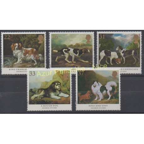 Great Britain - 1991 - Nb 1511/1515 - Painting - Dogs