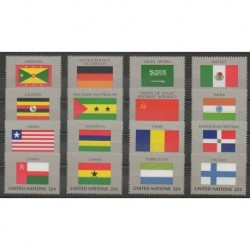 United Nations (UN - New York) - 1985 - Nb 440/455 - Flags