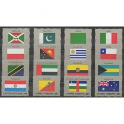 United Nations (UN - New York) - 1984 - Nb 416/431 - Flags