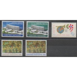 Nations Unies (ONU - New-York) - 1974 - No 237/241