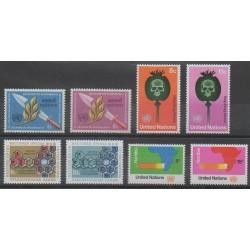 Nations Unies (ONU - New-York) - 1973 - No 227/234