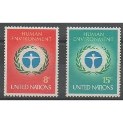 United Nations (UN - New York) - 1972 - Nb 222/223 - Environment