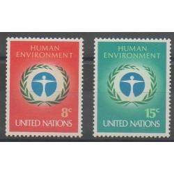 Nations Unies (ONU - New-York) - 1972 - No 222/223 - Environnement