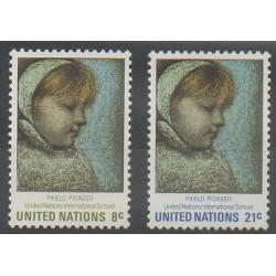 Nations Unies (ONU - New-York) - 1971 - No 217/218 - Peinture