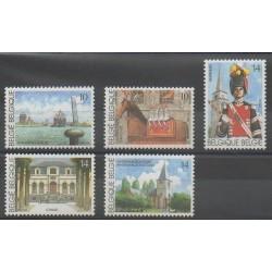Belgium - 1990 - Nb 2377/2381 - Tourism