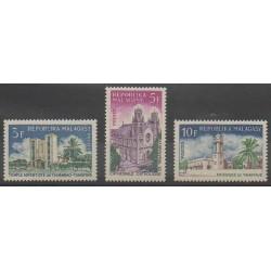 Madagascar - 1967 - No 431/433 - Églises