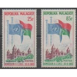 Madagascar - 1962 - No 362/363 - Nations unies