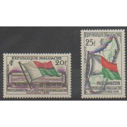 Madagascar - 1959 - Nb 338/339 - Various Historics Themes