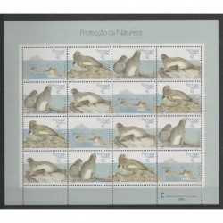 Portugal (Madeira) - 1993 - Nb F171/174 - Mamals - Sea life - Endangered species - WWF