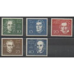 Allemagne occidentale (RFA) - 1959 - No 188/192 - Musique