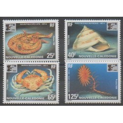 New Caledonia - 1996 - Nb 710/713 - Sea life - Philately