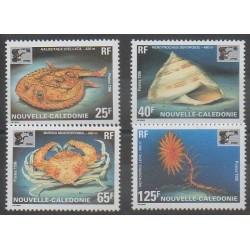 Nouvelle-Calédonie - 1996 - No 710/713 - Vie marine - Philatélie
