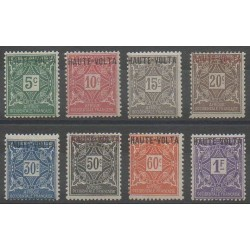 Haute-Volta - 1920 - No T1/T8 - Neufs avec charnière