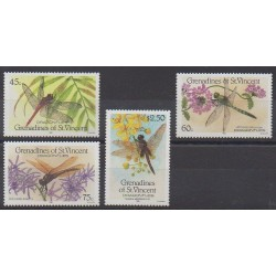 Saint-Vincent (Iles Grenadines) - 1986 - No 479/482 - Insectes